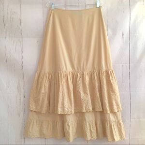 Hunt Club Prairie Maxi Skirt Eyelet Lace Tiered